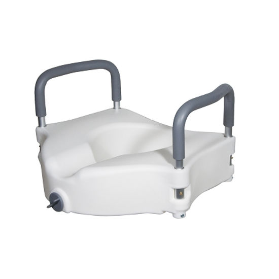 Picture of Drive Elevated Raised Toilet Seat with Removable Padded Arms
