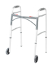 """Picture of Drive Deluxe Two Button Folding Walker with 5"""" Wheels"""