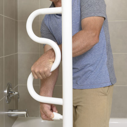 Picture of Stander Security Pole & Curve Grab Bar