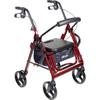 drive-duet-dual-function-transport-wheelchair-rollator-rolling-walker-125-red