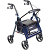 drive-duet-dual-function-transport-wheelchair-rollator-rolling-walker-125-blue