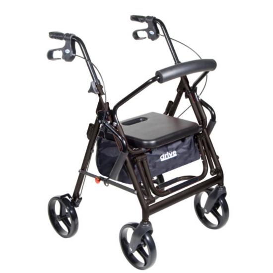 drive-duet-dual-function-transport-wheelchair-rollator-rolling-walker-black